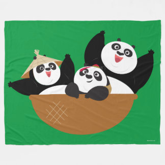 Pandas in a Bowl Fleece Blanket