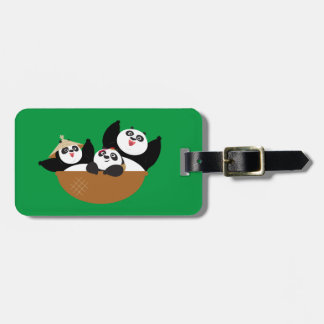 Pandas in a Bowl Luggage Tag