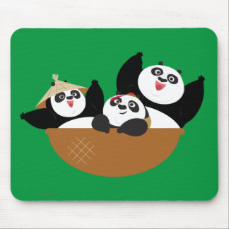 Pandas in a Bowl Mouse Mat
