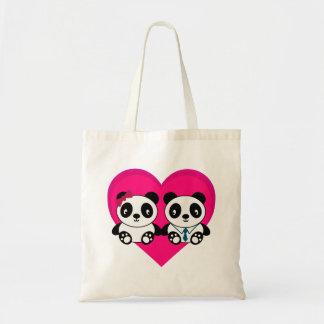 Pandas in Love Budget Tote Bag