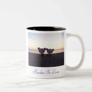 Pandas In Love Two-Tone Mug