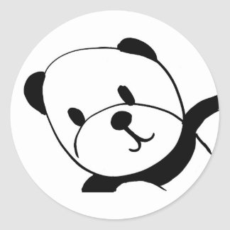 Pandas Lovers Round Sticker