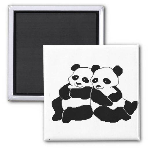 Pandas Refrigerator Magnet