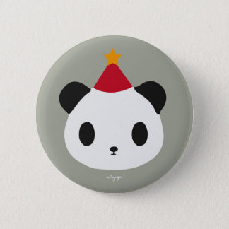Panda's Party 6 Cm Round Badge