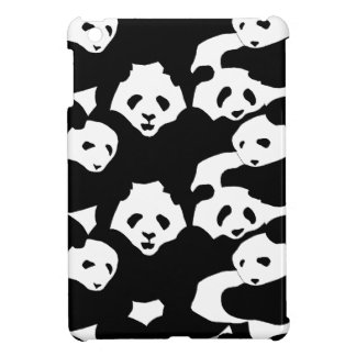 pandas pattern - black and white iPad mini cover