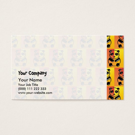 Pandas pattern business card