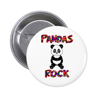 Pandas Rock 6 Cm Round Badge