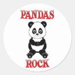 Pandas Rock Classic Round Sticker