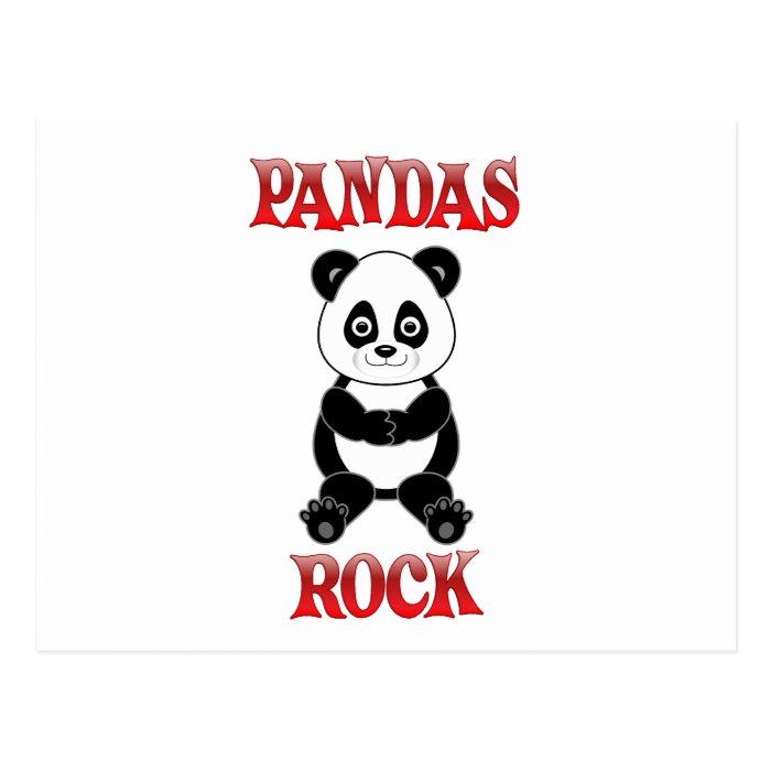Pandas Rock Postcard