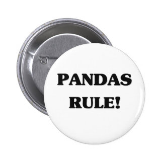 Pandas Rule 6 Cm Round Badge