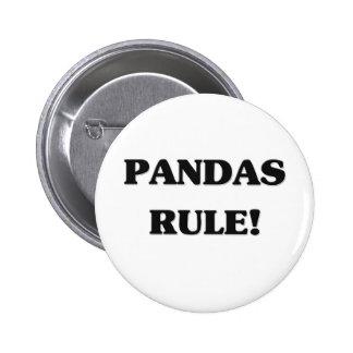 Pandas Rule 6 Cm Round Badge