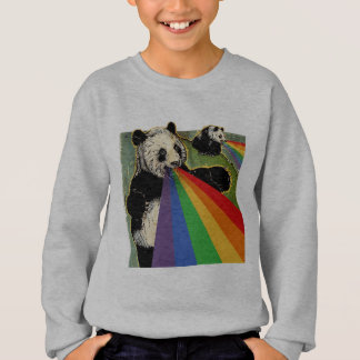 Pandas shooting rainbows from their mouths sweatshirt