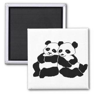 Pandas Square Magnet