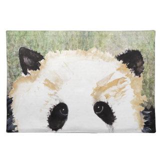 Pandas Watercolour Painting Placemat