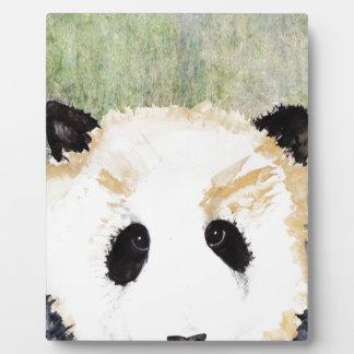 Pandas Watercolour Painting Plaque
