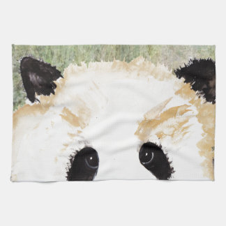 Pandas Watercolour Painting Tea Towel