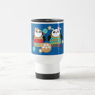 Pandas with Dumplings Travel Mug