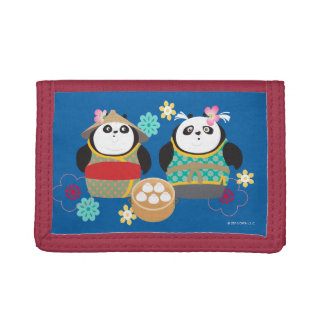 Pandas with Dumplings Tri-fold Wallet