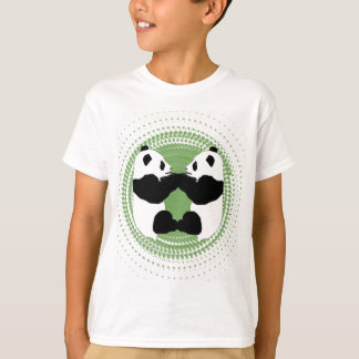 (Pandas with Green Background) T-Shirt