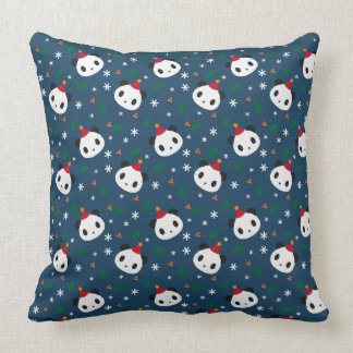 Panda's Xmas Throw Pillow
