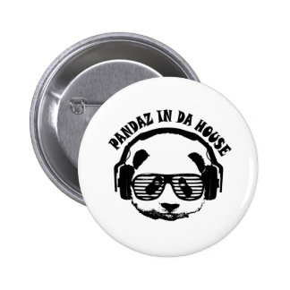 Pandaz In Da House 6 Cm Round Badge