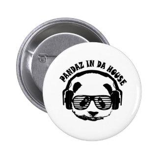 Pandaz In Da House 6 Cm Round Badge