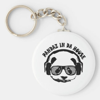 Pandaz In Da House Basic Round Button Key Ring
