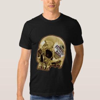 Pandemic Rage Gold Skull t shirt