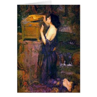 Pandora by John William Waterhouse Card