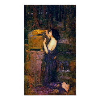 Pandora by John William Waterhouse Poster