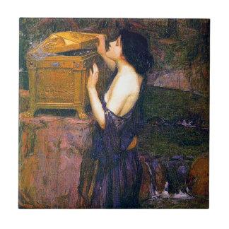 Pandora by John William Waterhouse Tile
