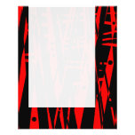 Panel 020 - Abstract in Red and Black Full Colour Flyer