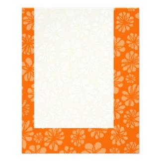 Panel 051 - Orange Floral Personalized Flyer