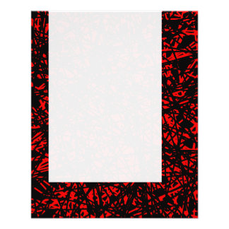 Panel 068 - Abstract Lines - Red 11.5 Cm X 14 Cm Flyer
