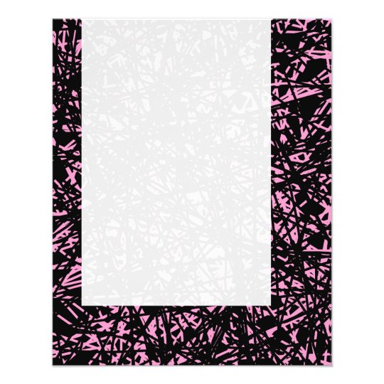 Panel 072 - Abstract Lines - Pink 11.5 Cm X 14 Cm Flyer