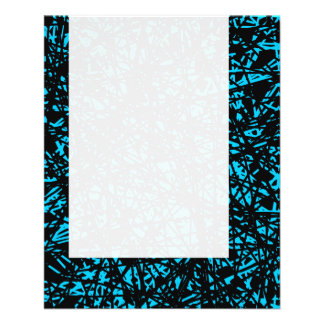 Panel 074 - Abstract Lines - Sky Blue 11.5 Cm X 14 Cm Flyer