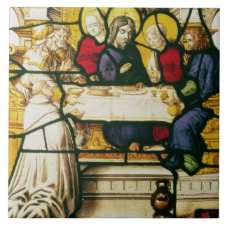 Panel depicting St. Andrew at the Supper at Emmaus Tile