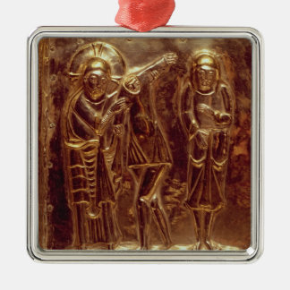 Panel from a reliquary Silver-Colored square decoration