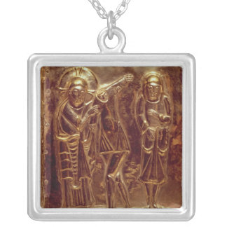 Panel from a reliquary silver plated necklace