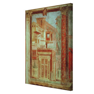 Panel from Cubiculum from the bedroom of the Canvas Print