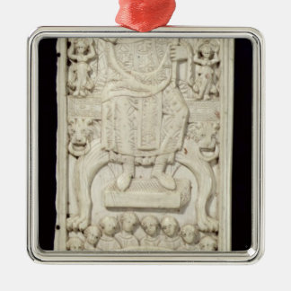 Panel from the Diptych of Consul Areobindus Christmas Ornament