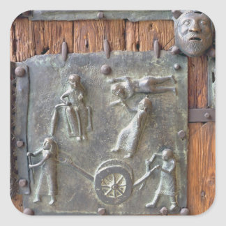 Panel from the left hand door, 12th century (bronz square sticker