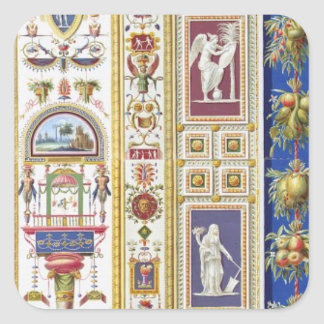 Panel from the Raphael Loggia at the Vatican, from Square Sticker