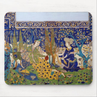 Panel of glazed earthenware tile-work, Isfahan Mouse Mat