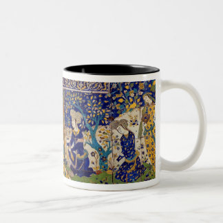 Panel of glazed earthenware tile-work, Isfahan Two-Tone Coffee Mug