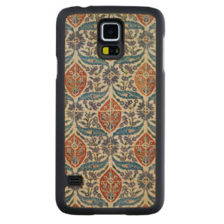 Panel of Isnik earthenware tiles Carved Maple Galaxy S5 Case