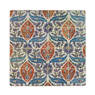 Panel of Isnik earthenware tiles Wood Coaster