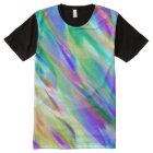 Panel T-Shirt Colourful digital art splashing