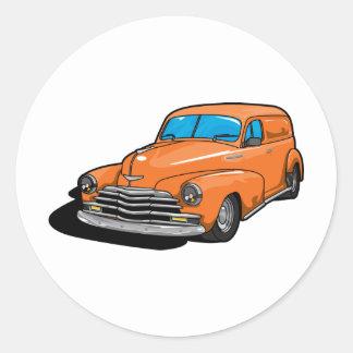 Panel Wagon Classic Round Sticker