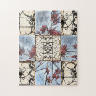 Paneled Abstract Scrollwork Painting Jigsaw Puzzle